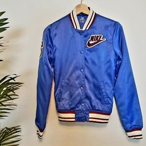 Nike | XS Womens Blue Button Up Athletic Jacket